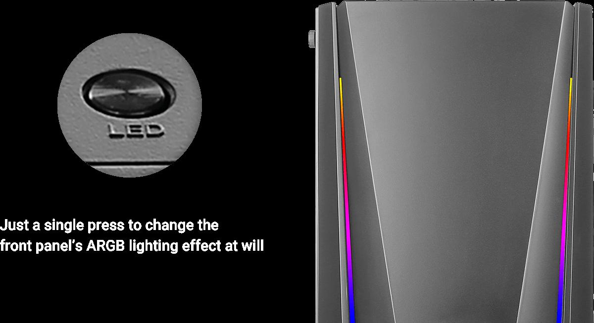 安钛克 Antec NX310 ATX, mATX, ITX, ARGB Control, USB 2.0 x 2, USB 3.0 x 1. Tempered Glass Side Panel. 3.5' x 2, 2.5' x 4. 2 Years Warranty